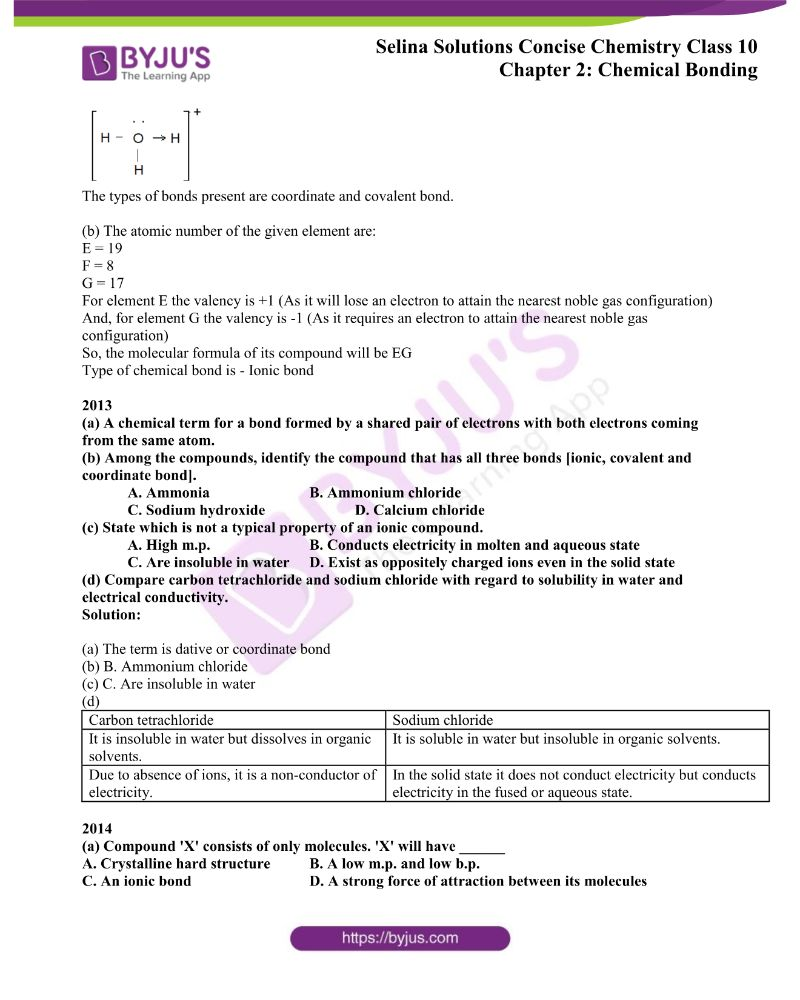 Selina Solutions Concise Chemistry for Class 10 Chapter 2 6