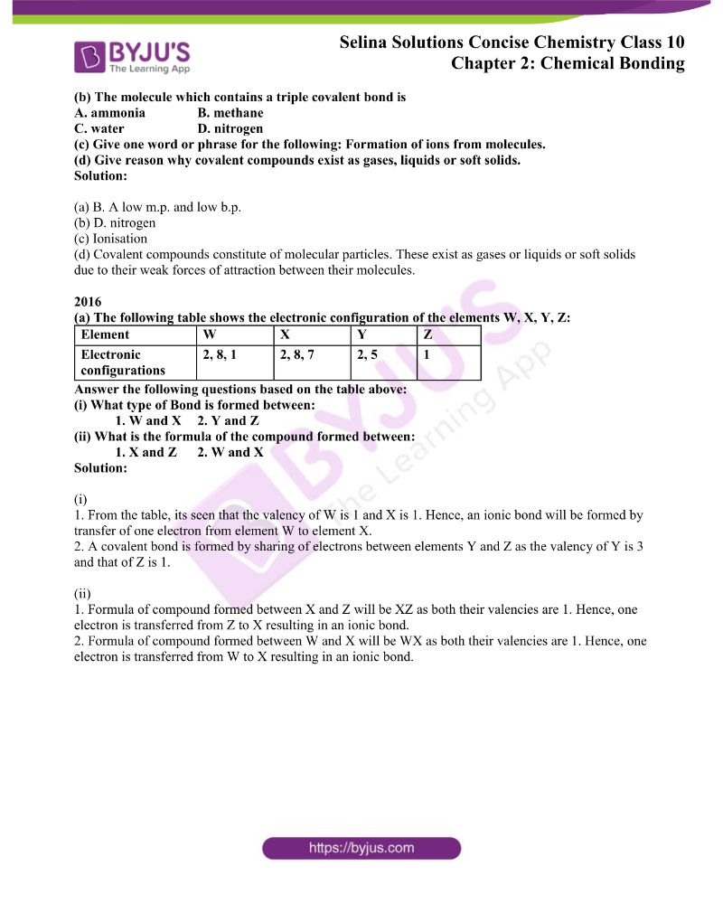 Selina Solutions Concise Chemistry for Class 10 Chapter 2 7