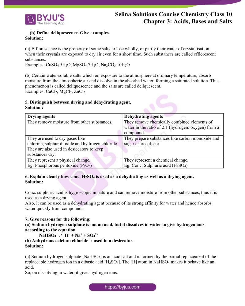 Selina Solutions Concise Chemistry for Class 10 Chapter 3 15