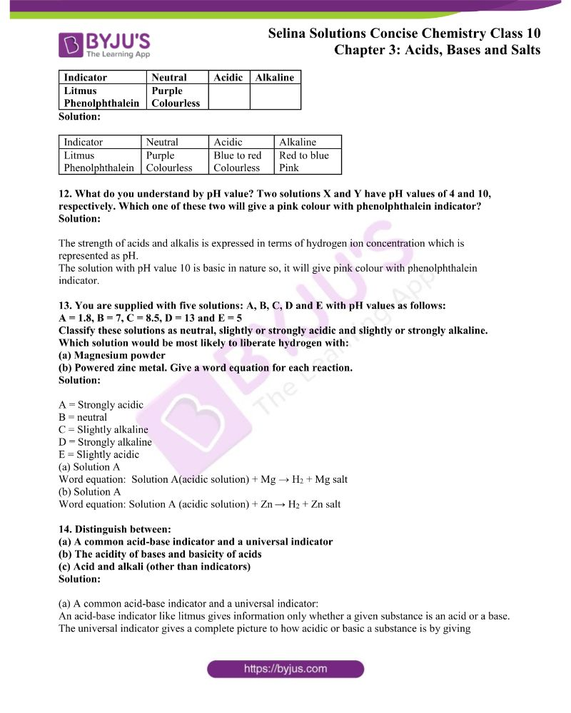 Selina Solutions Concise Chemistry for Class 10 Chapter 3 3