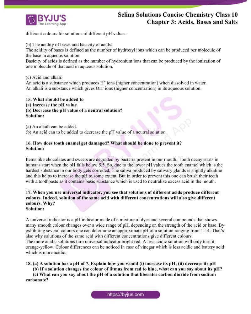 Selina Solutions Concise Chemistry for Class 10 Chapter 3 4