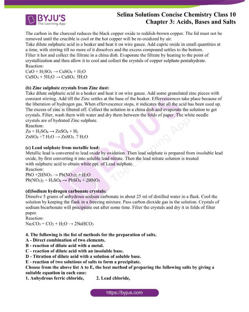 Selina Solutions Concise Chemistry for Class 10 Chapter 3 7