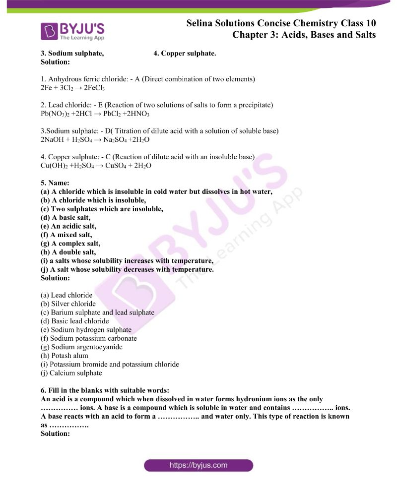 Selina Solutions Concise Chemistry for Class 10 Chapter 3 8