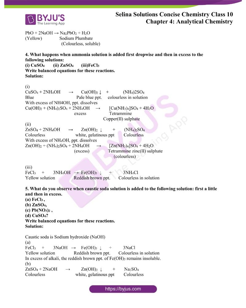 Selina Solutions Concise Chemistry for Class 10 Chapter 4 1