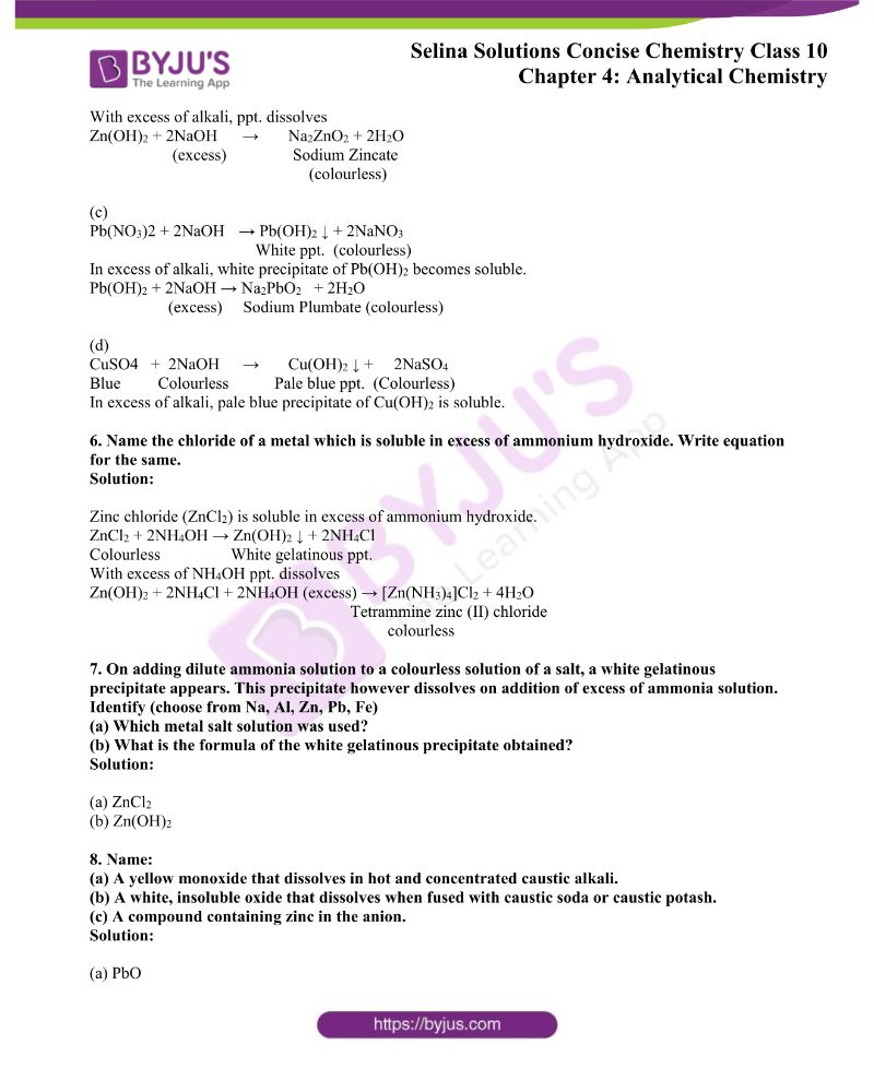Selina Solutions Concise Chemistry for Class 10 Chapter 4 2