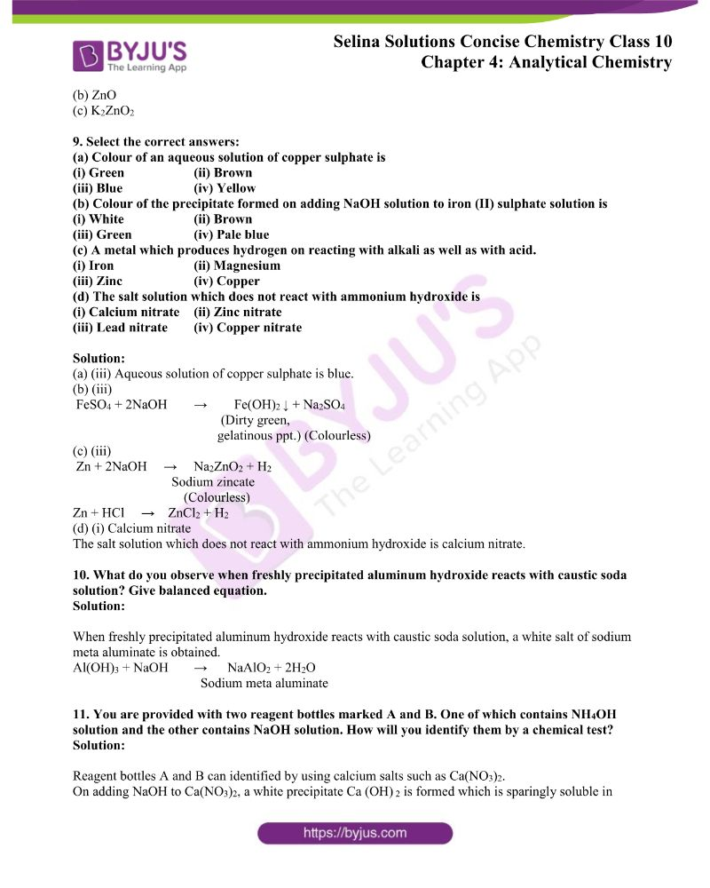 Selina Solutions Concise Chemistry for Class 10 Chapter 4 3