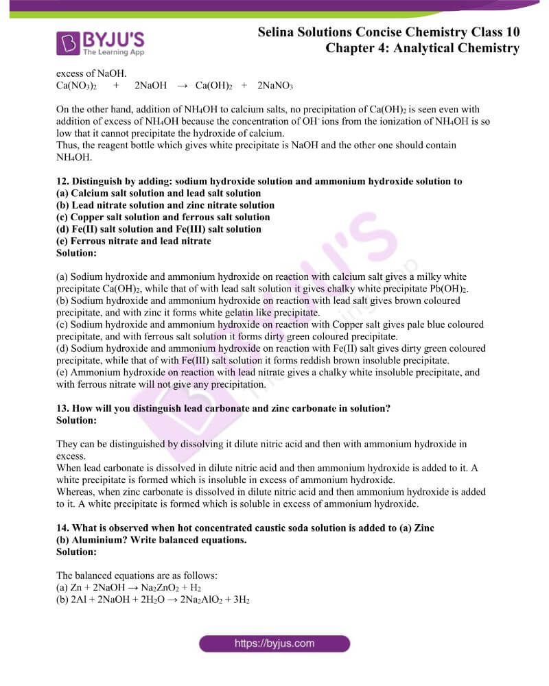 Selina Solutions Concise Chemistry for Class 10 Chapter 4 4