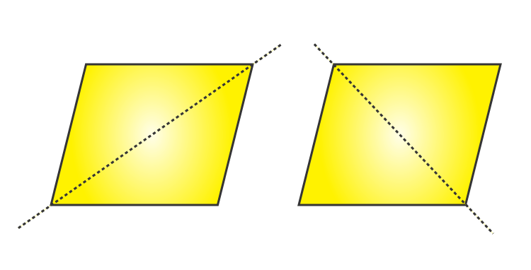 Two Lines Of Symmetry - Rhombus