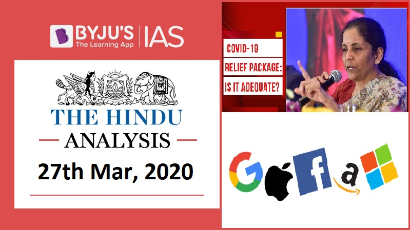 27 March 2020: The Hindu Analysis