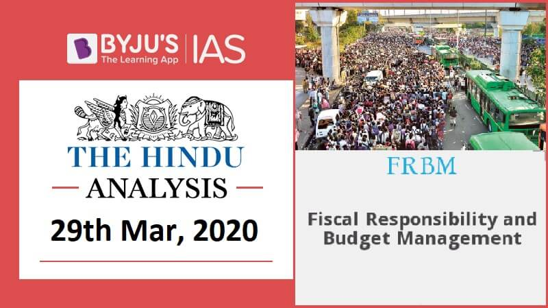 28 March 2020: The Hindu Analysis