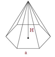 Volume of hexagonal pyramid