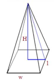 Volume of rectangular pyramid