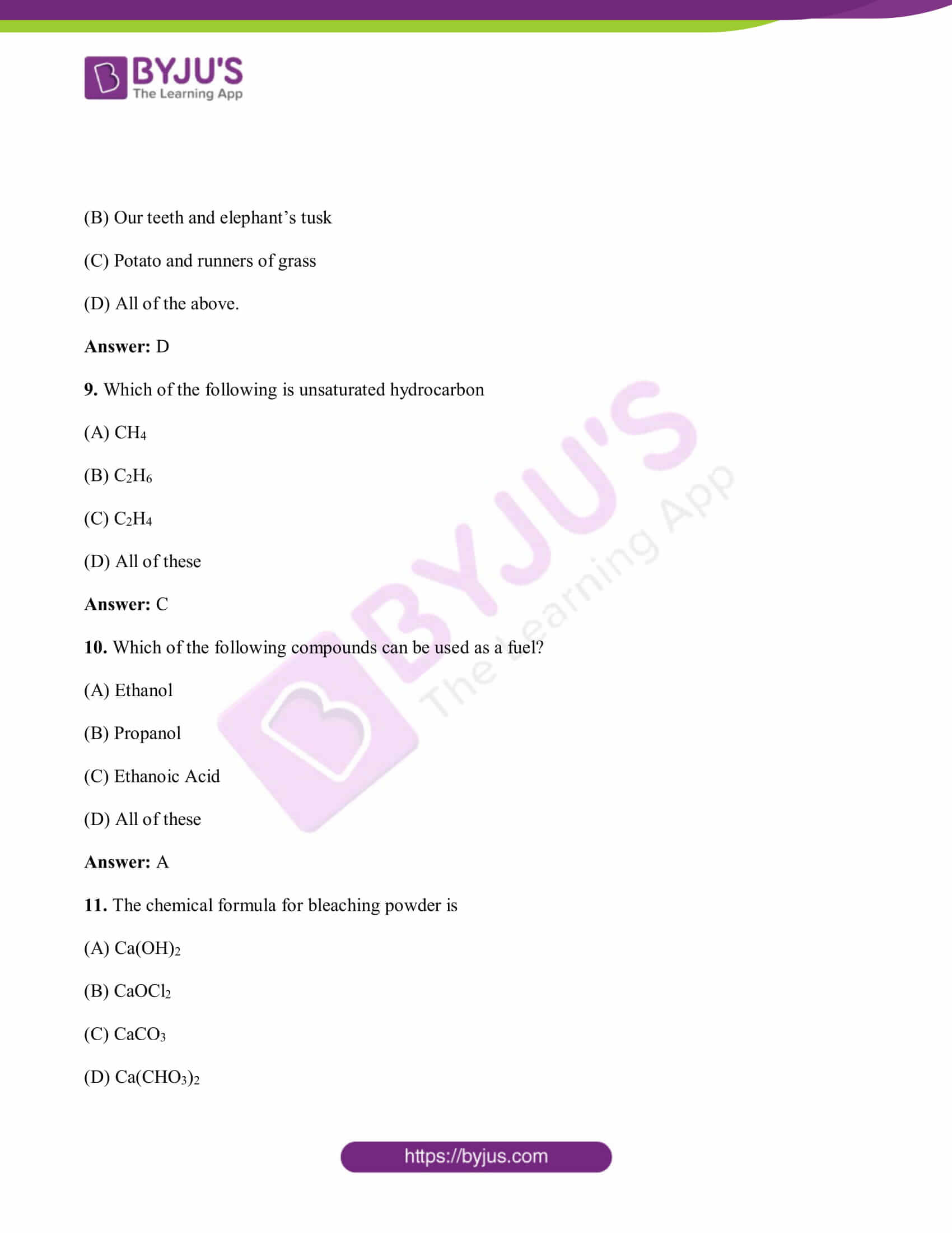 bihar board class 10 sci solved pre year quest papers 2019 03