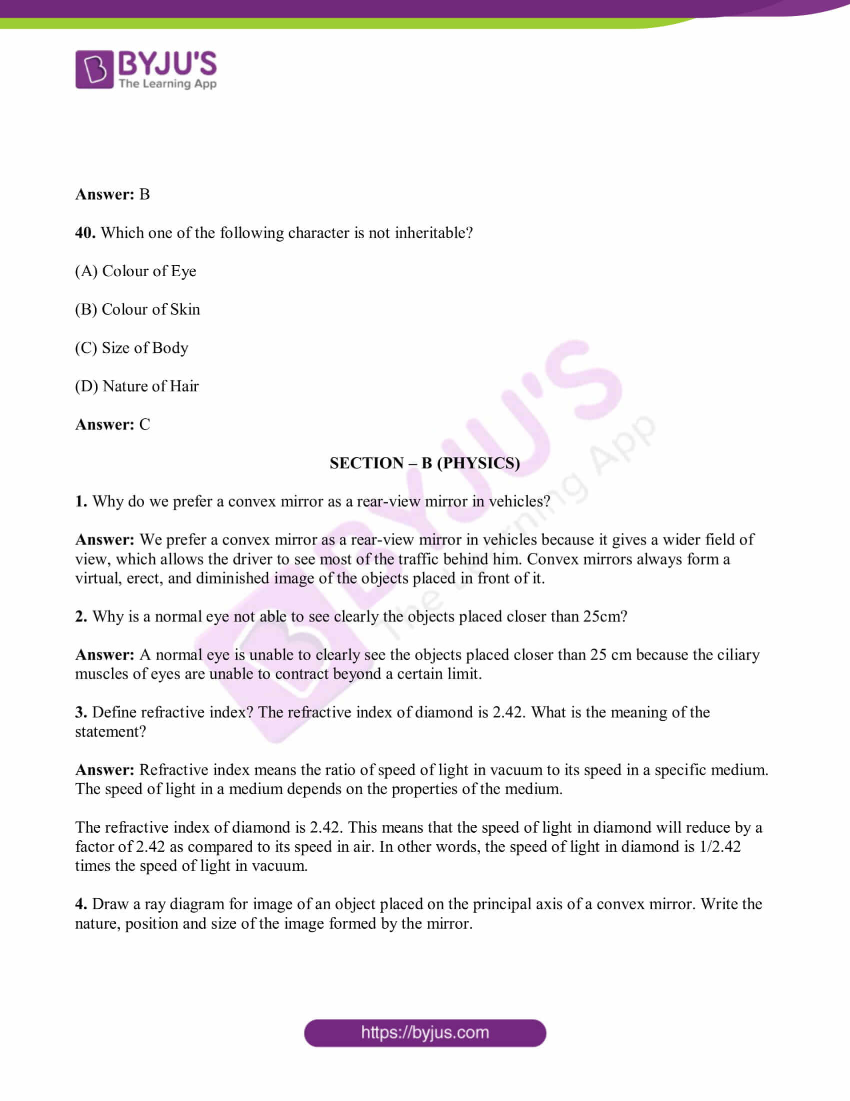 bihar board class 10 sci solved pre year quest papers 2019 12