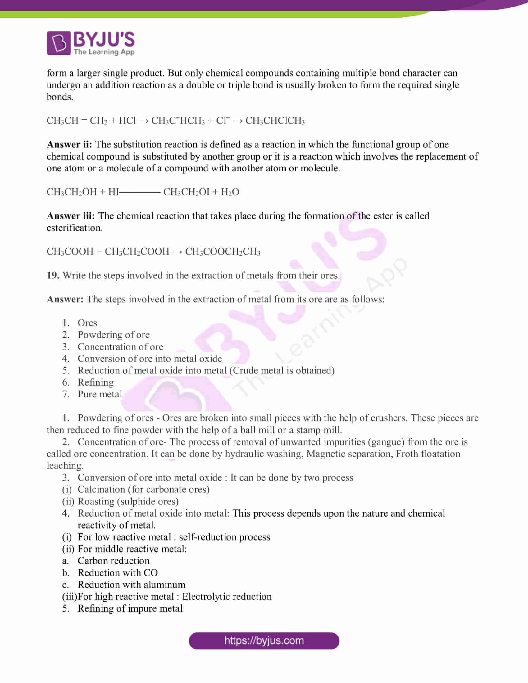 bihar board class 10 sci solved pre year quest papers 2019 19