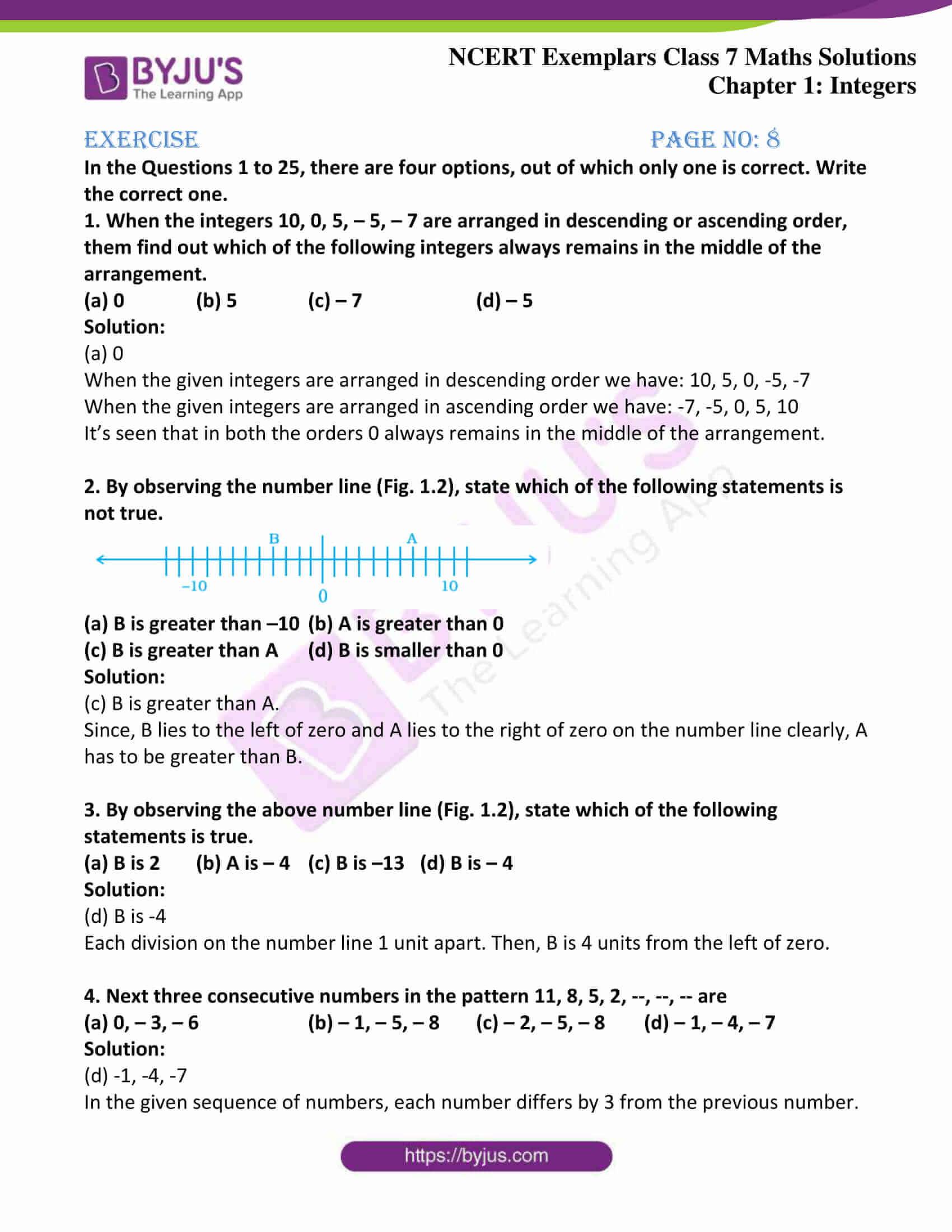 ncert exemplar class 7 maths solutions chapter 1 integers 01
