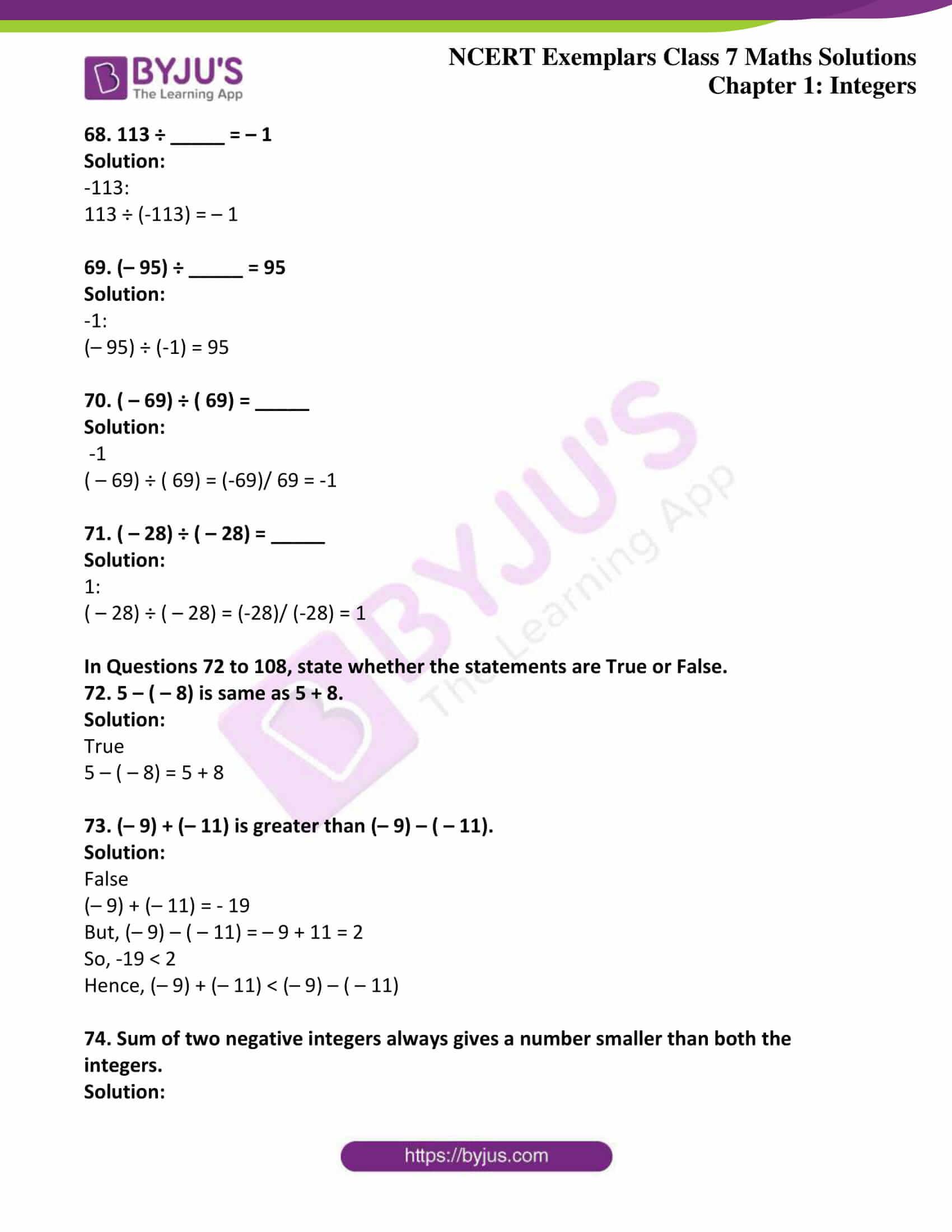 ncert exemplar class 7 maths solutions chapter 1 integers 14