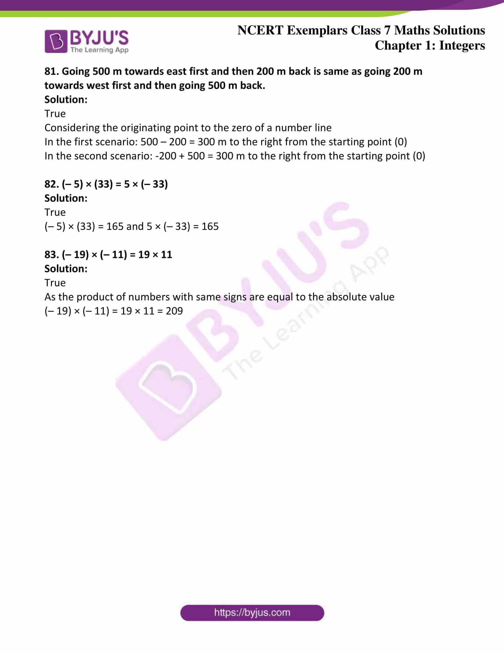 ncert exemplar class 7 maths solutions chapter 1 integers 16