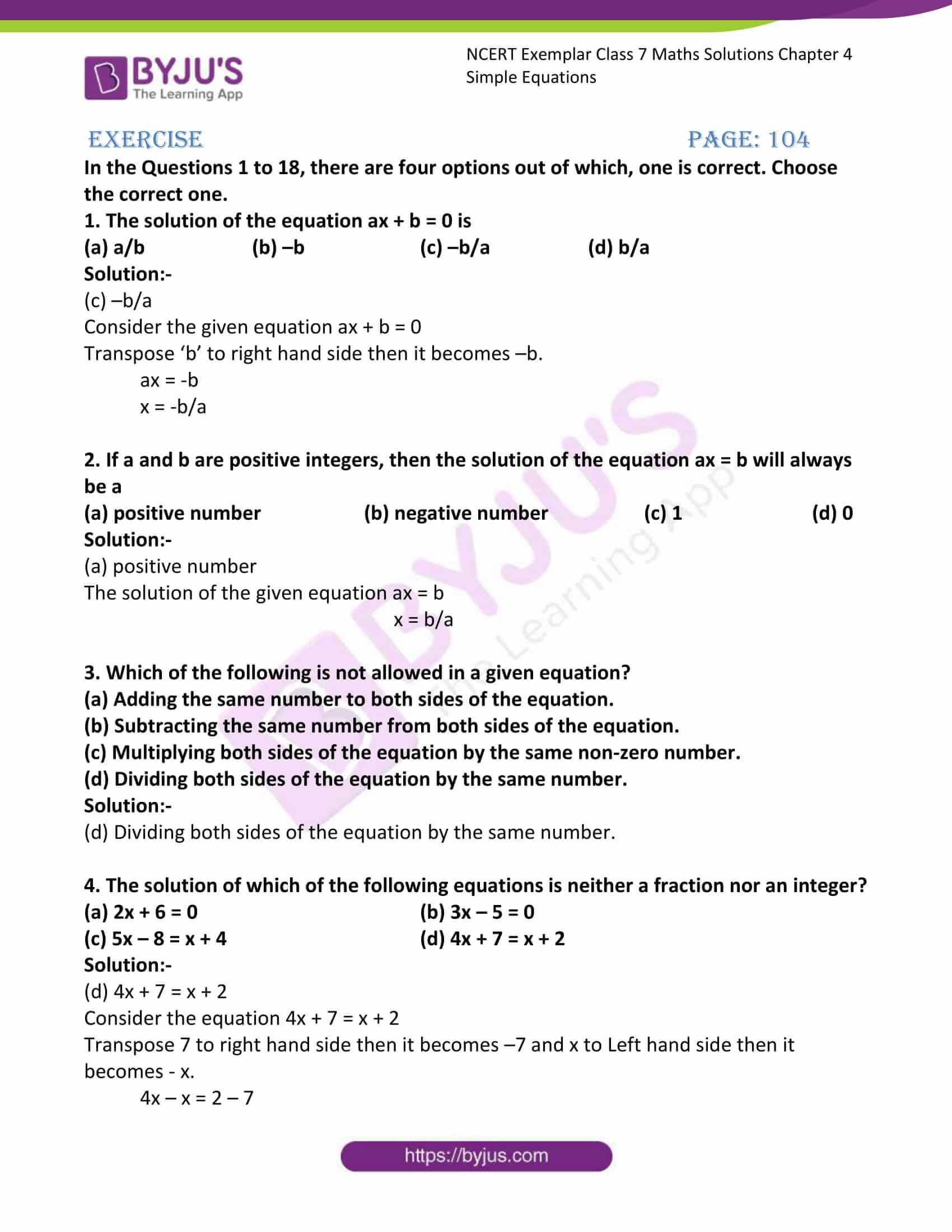 ncert exemplar class 7 maths solutions chapter 4 simple 01