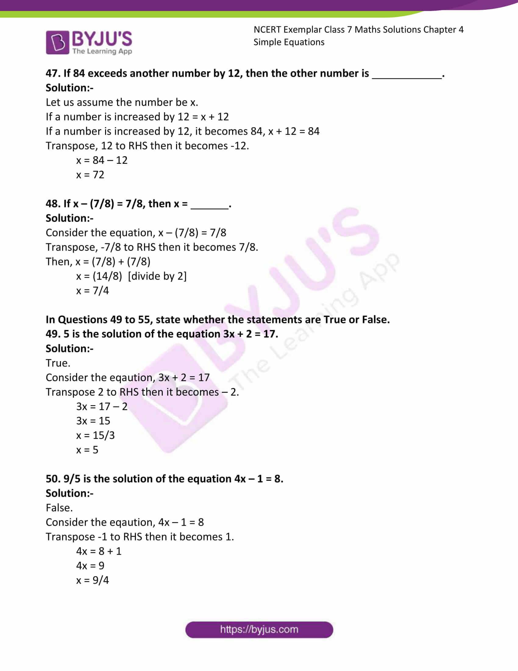 ncert exemplar class 7 maths solutions chapter 4 simple 16