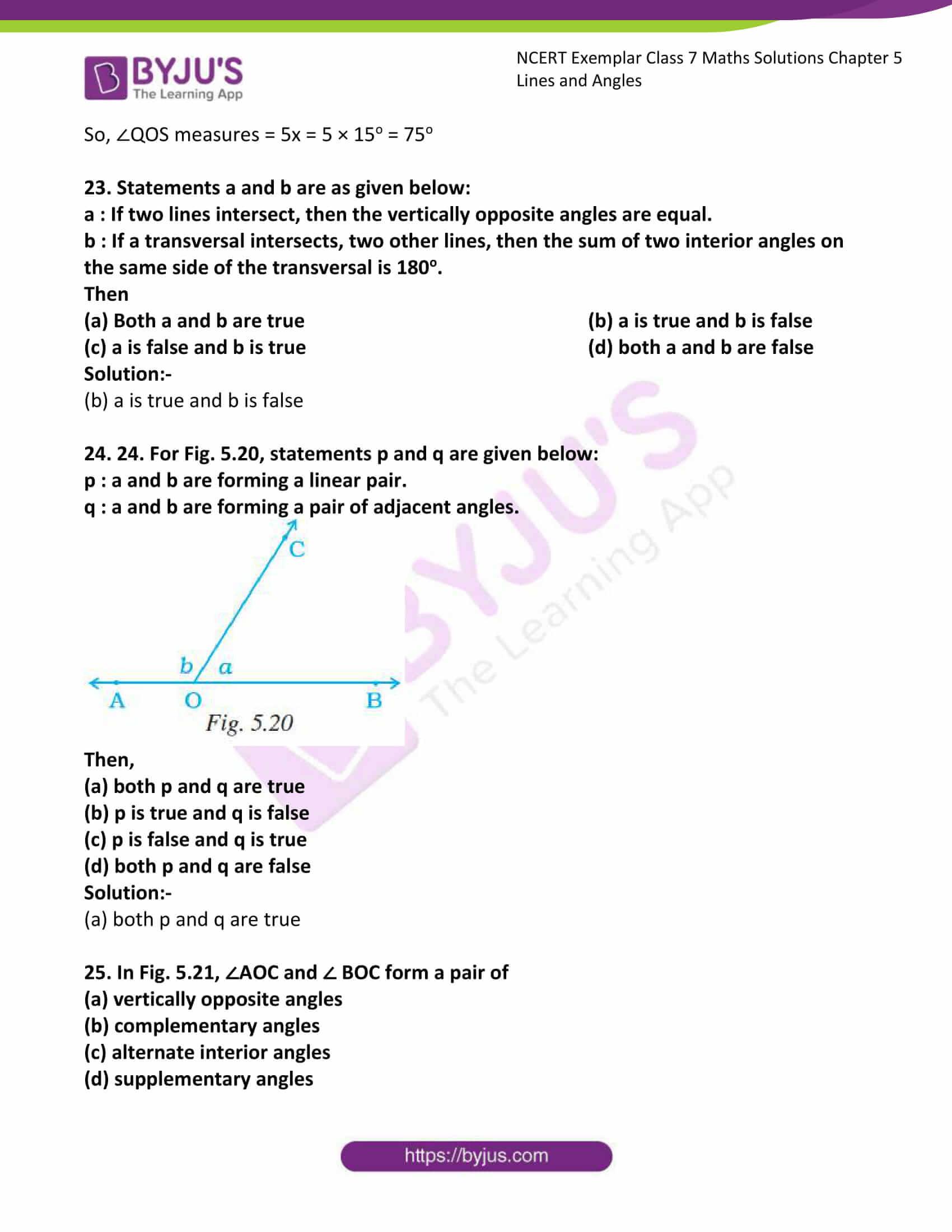 ncert exemplar class 7 maths solutions chapter 5 lines 11