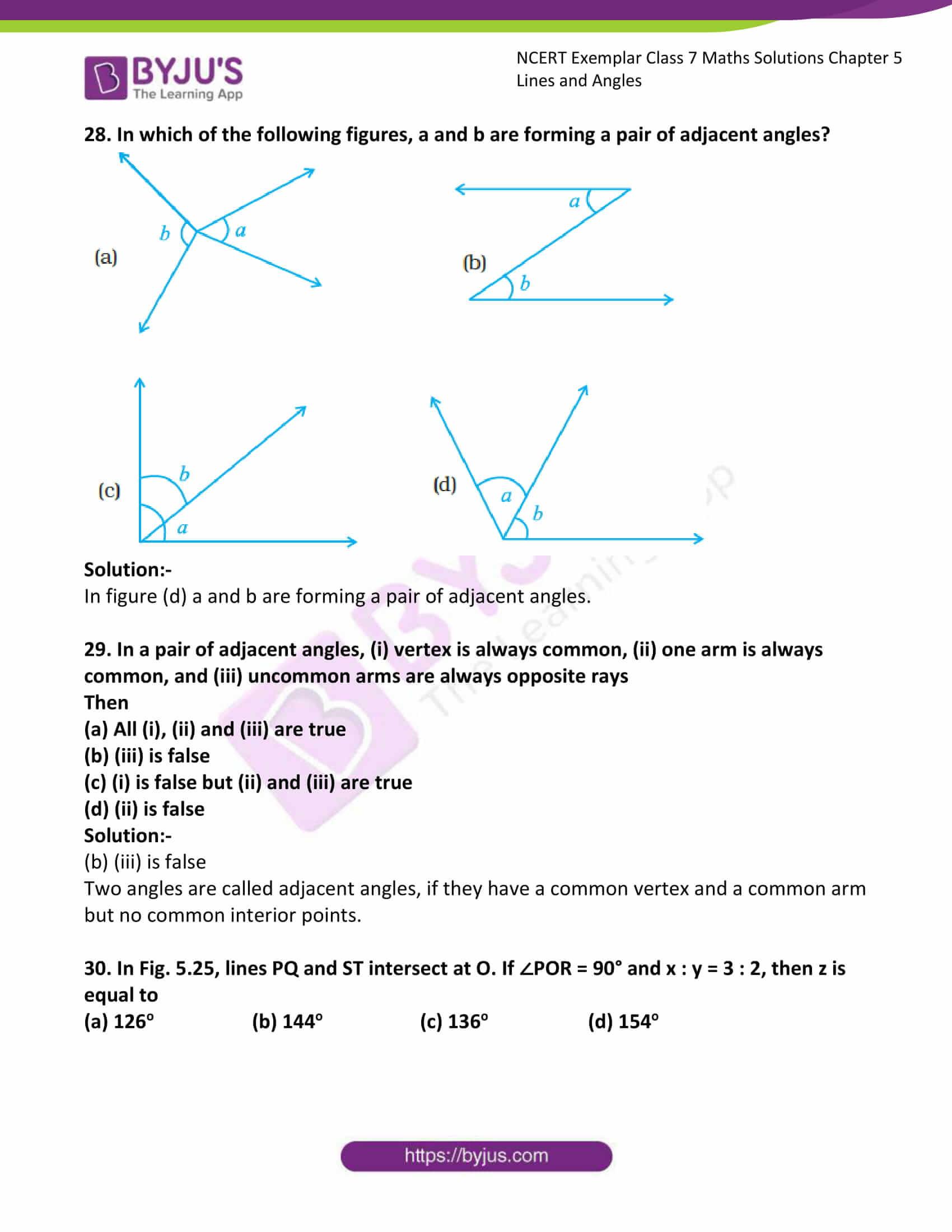 ncert exemplar class 7 maths solutions chapter 5 lines 14