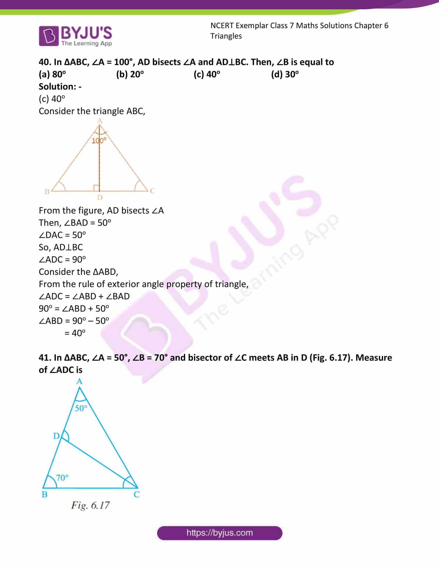 ncert exemplar class 7 maths solutions chapter 6 triangles 18