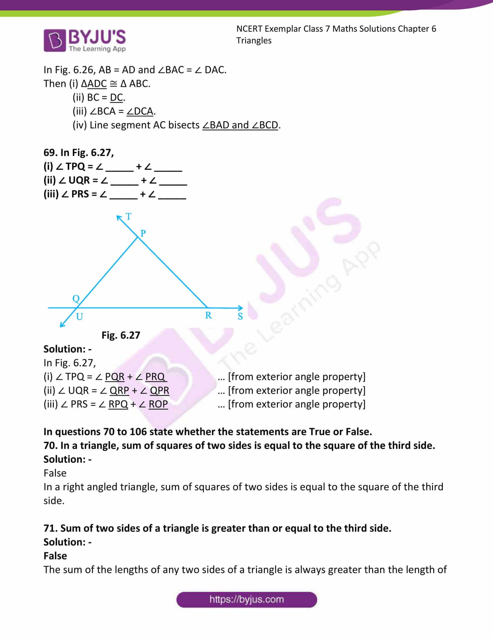 ncert exemplar class 7 maths solutions chapter 6 triangles 26
