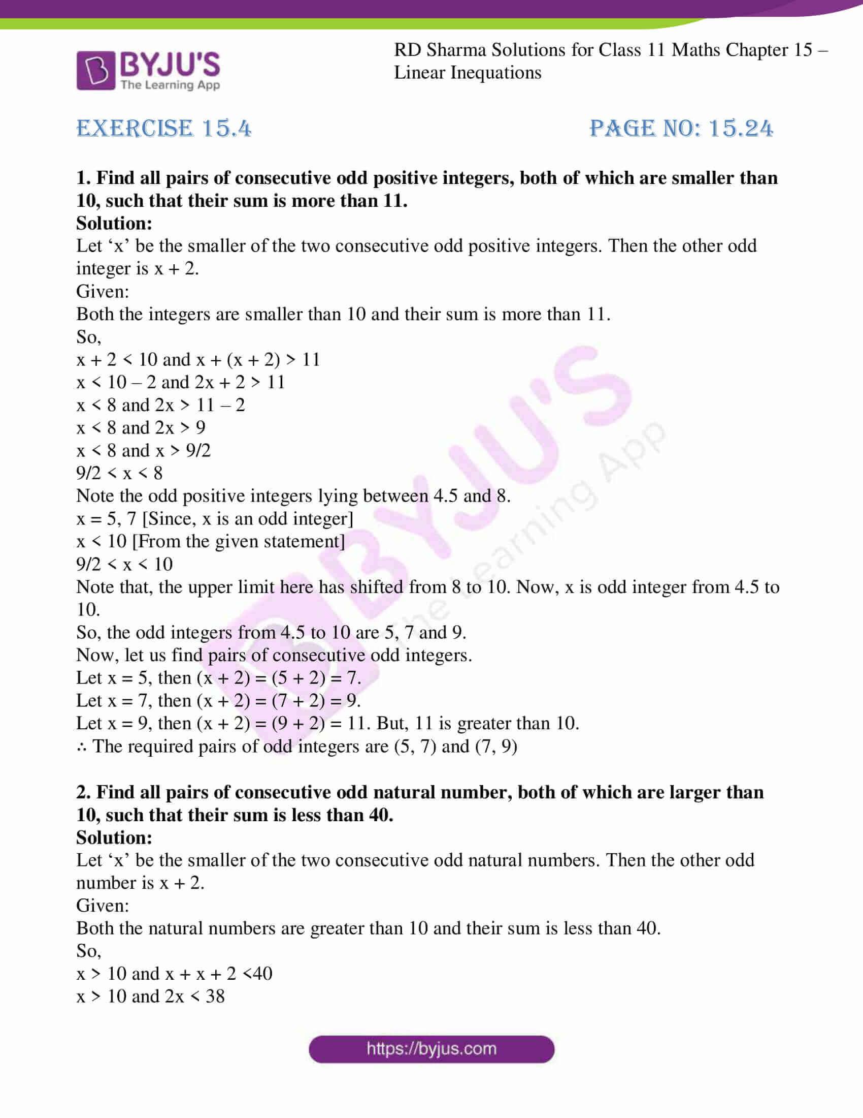 rd sharma class 11 maths ch 15 ex 4 1