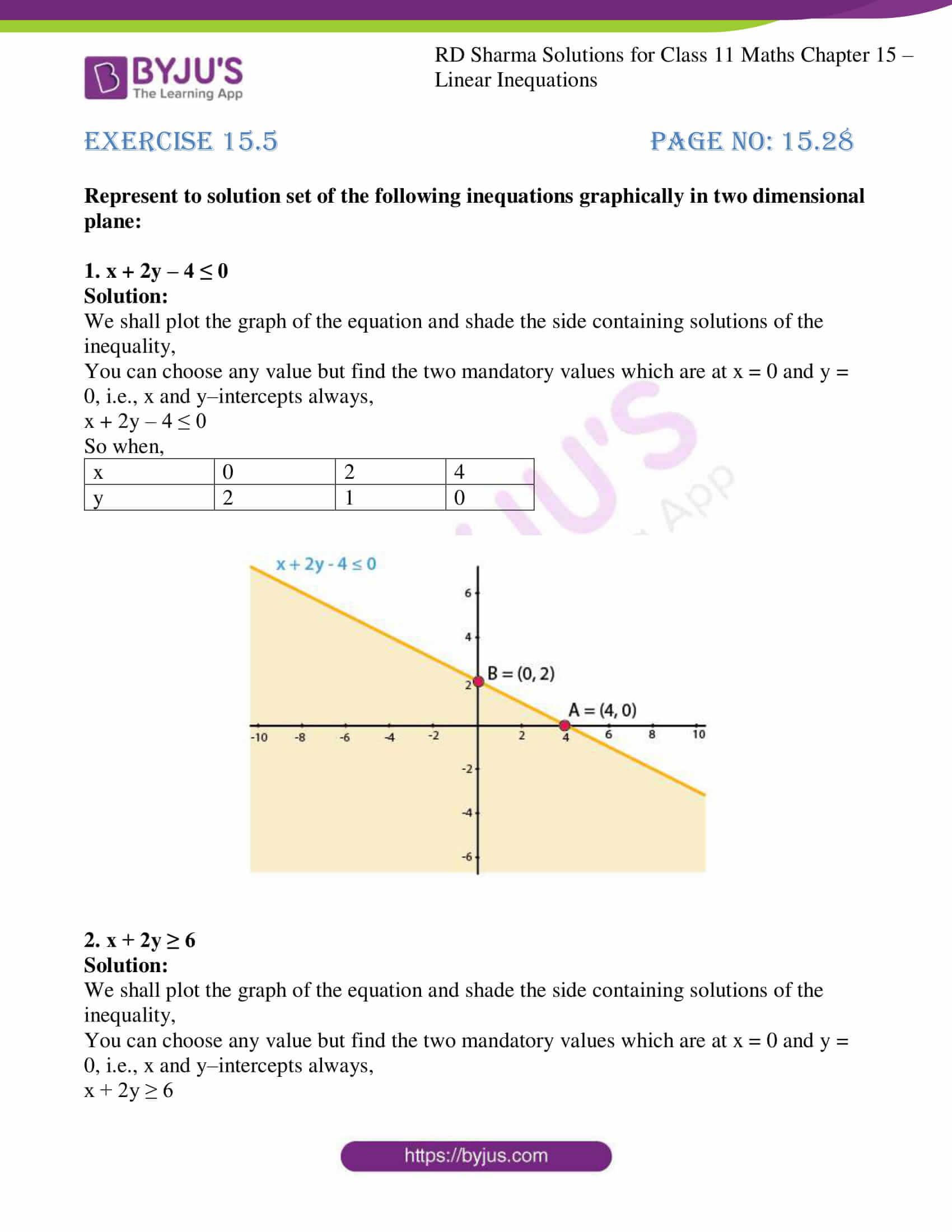 rd sharma class 11 maths ch 15 ex 5 1
