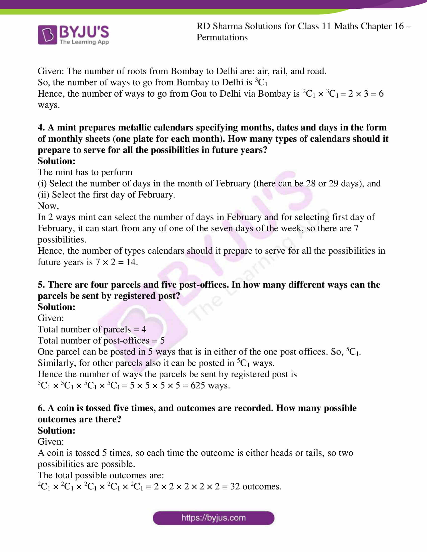 rd sharma class 11 maths ch 16 ex 2 2