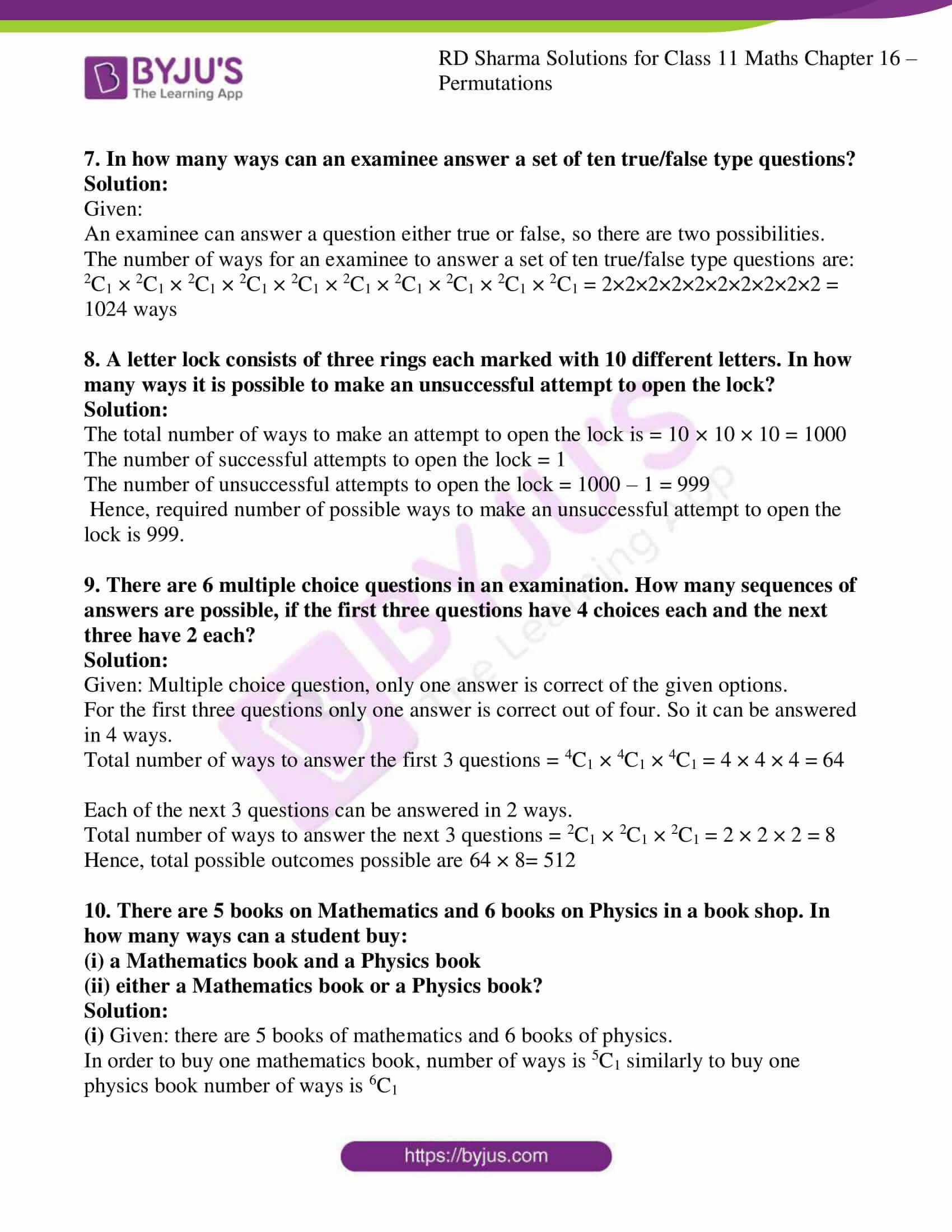 rd sharma class 11 maths ch 16 ex 2 3