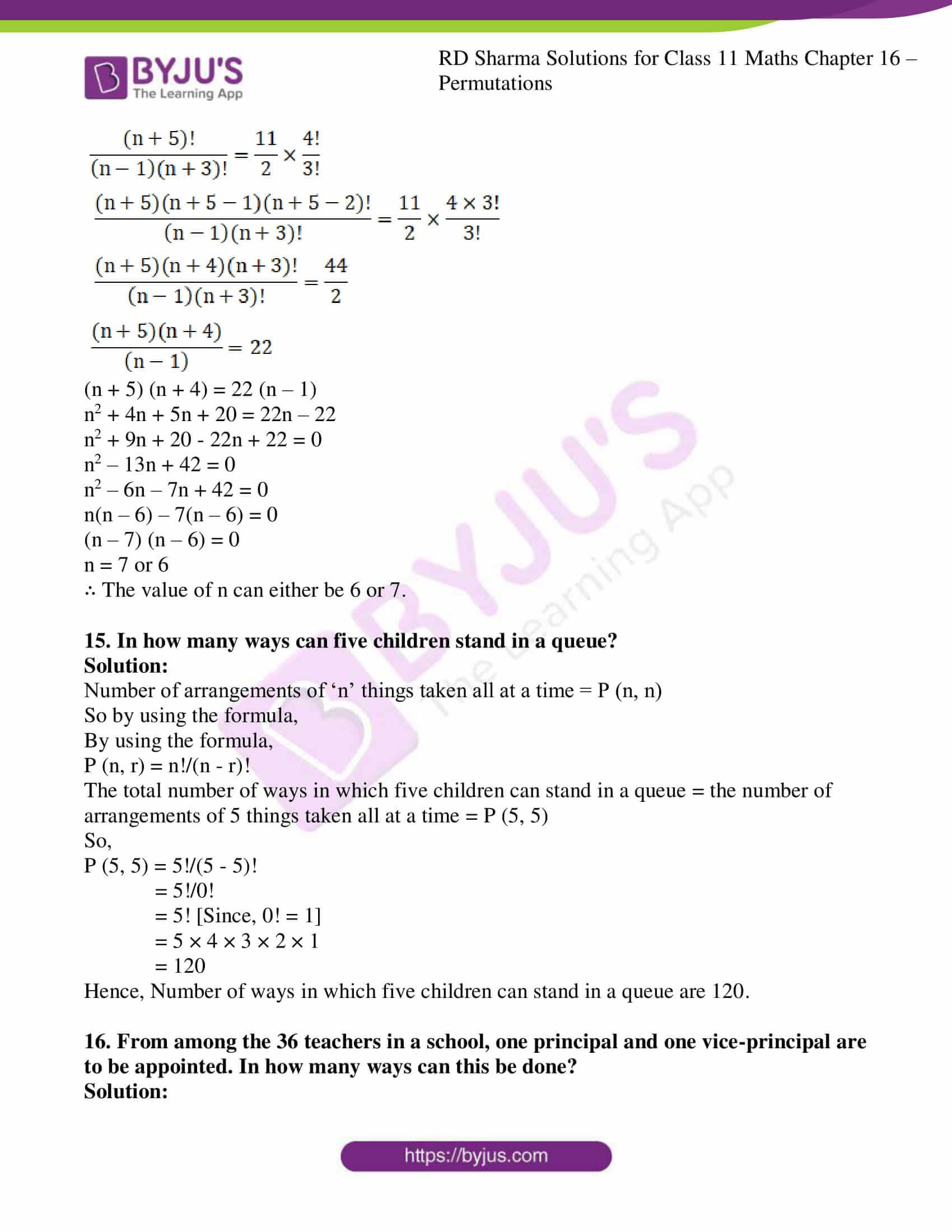 rd sharma class 11 maths ch 16 ex 3 11