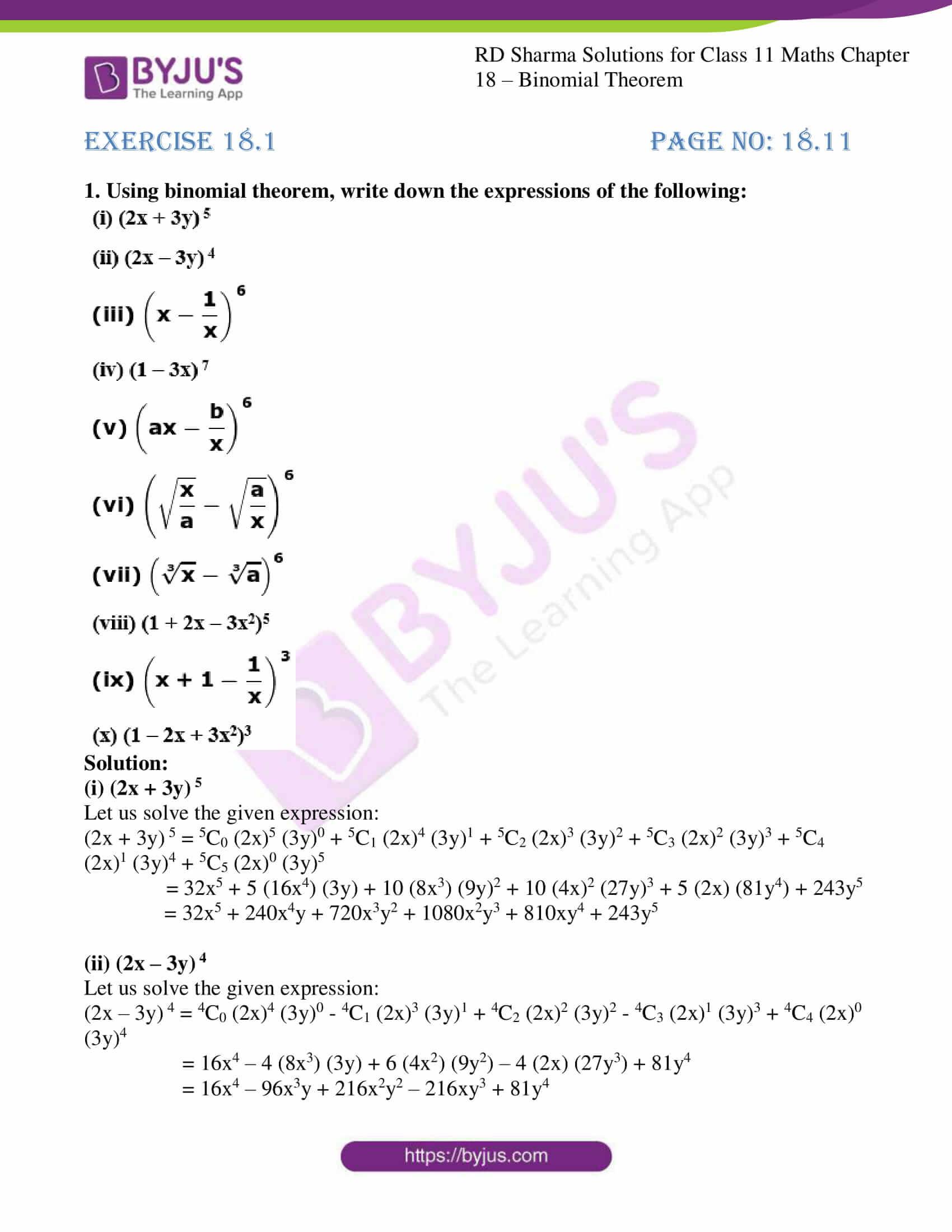 rd sharma class 11 maths ch 18 ex 1 01