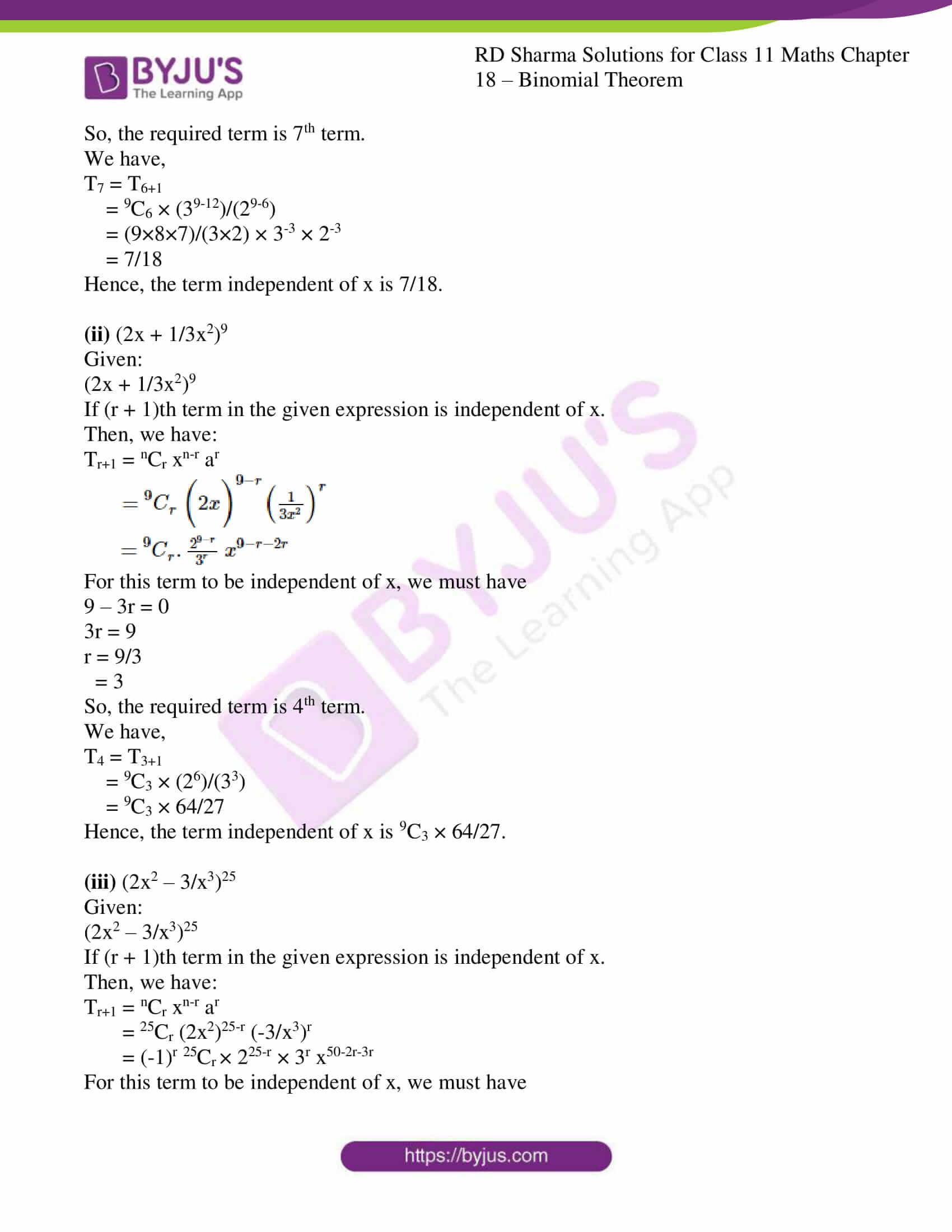 rd sharma class 11 maths ch 18 ex 2 18