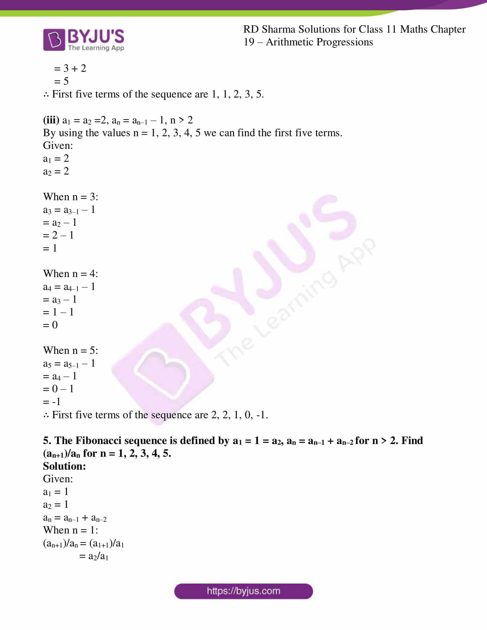 rd sharma class 11 maths ch 19 ex 1 5