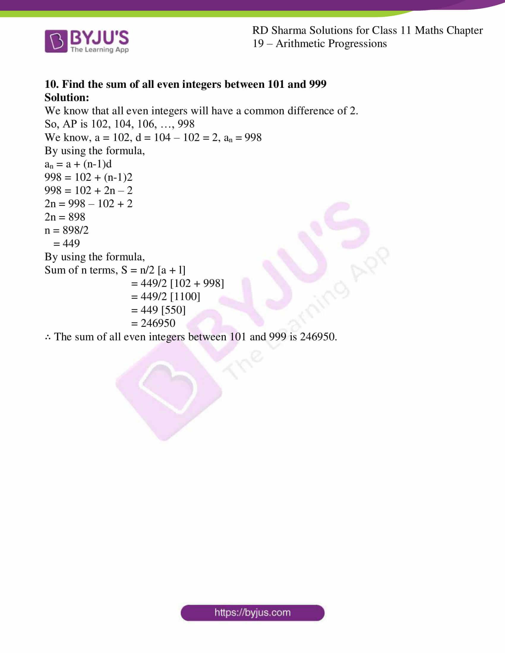 rd sharma class 11 maths ch 19 ex 4 9