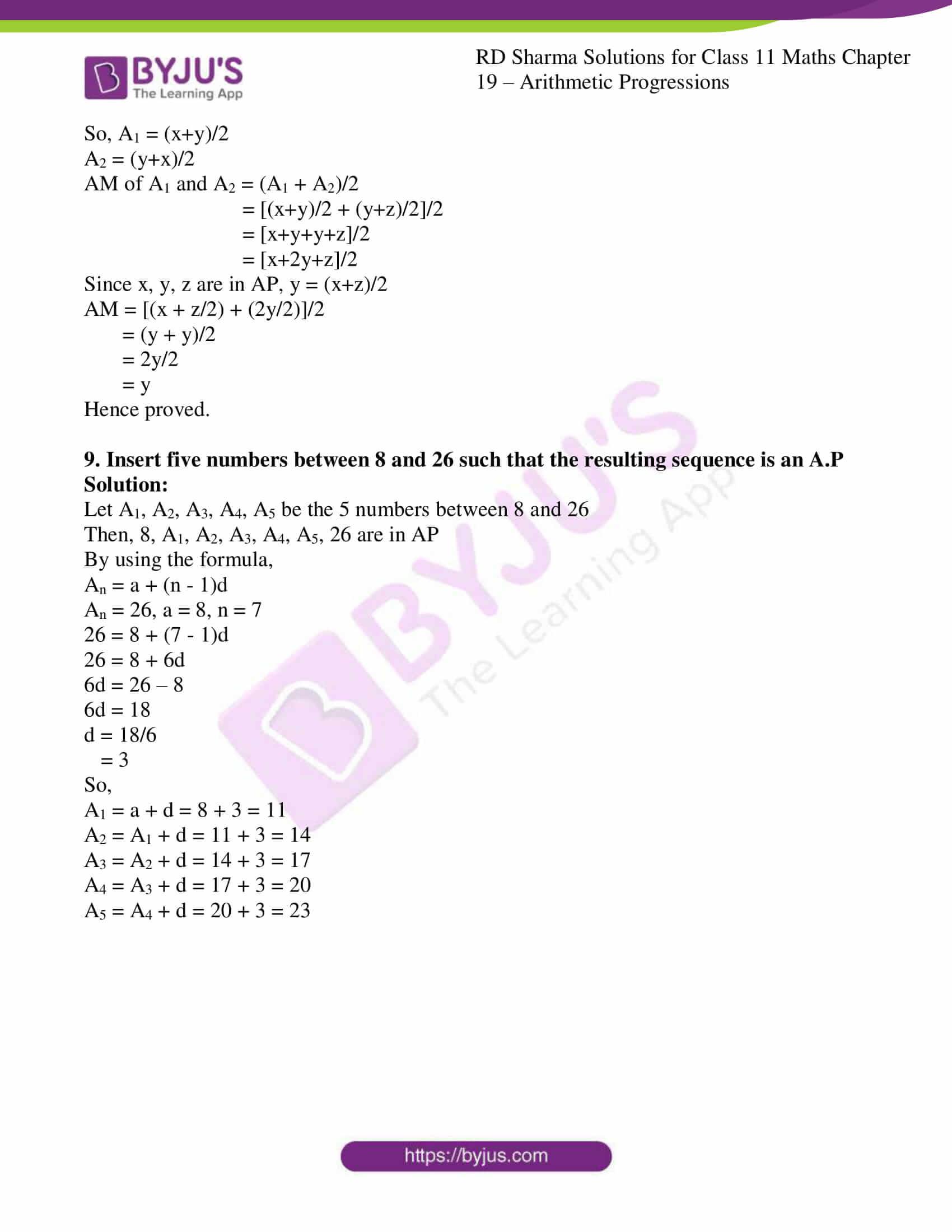 rd sharma class 11 maths ch 19 ex 6 5