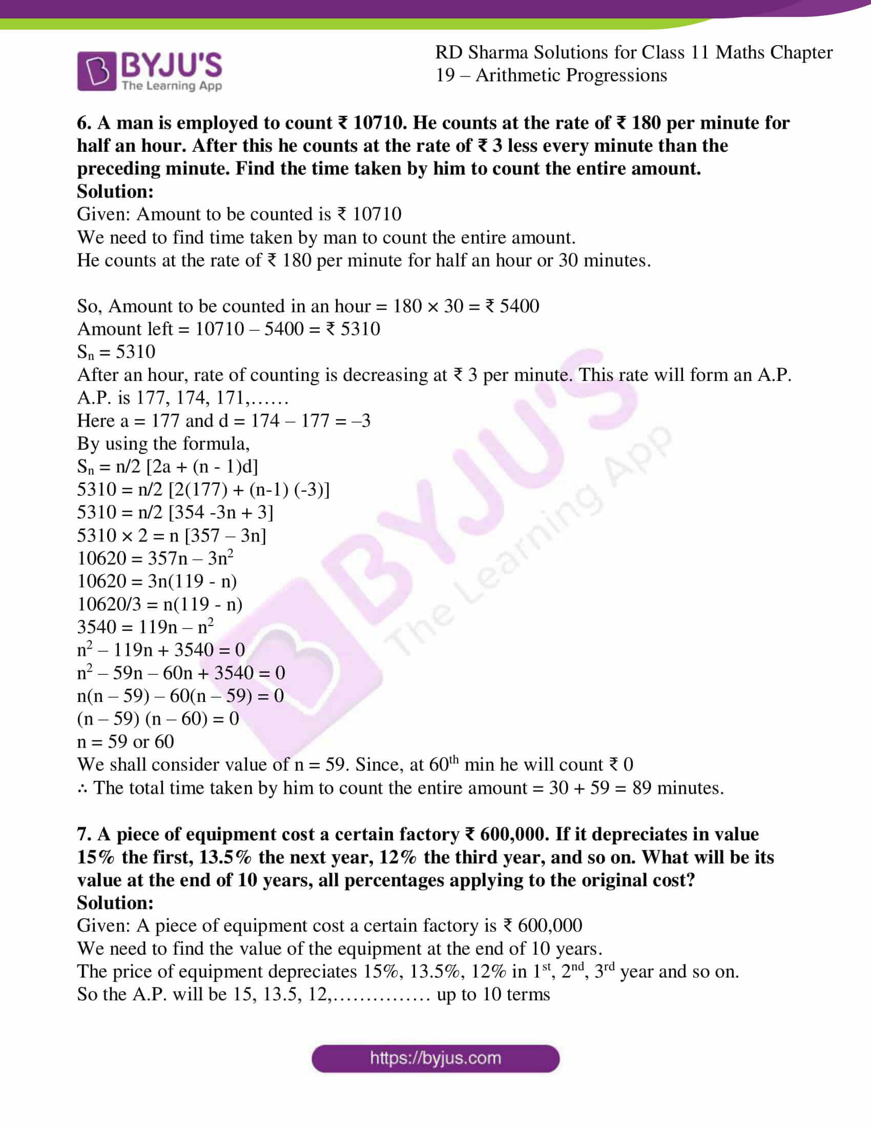 rd sharma class 11 maths ch 19 ex 7 6
