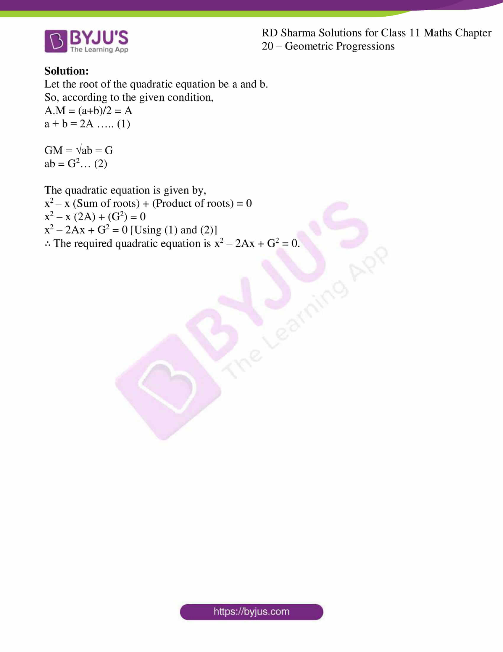 rd sharma class 11 maths ch 20 geometric progressions ex 6 4