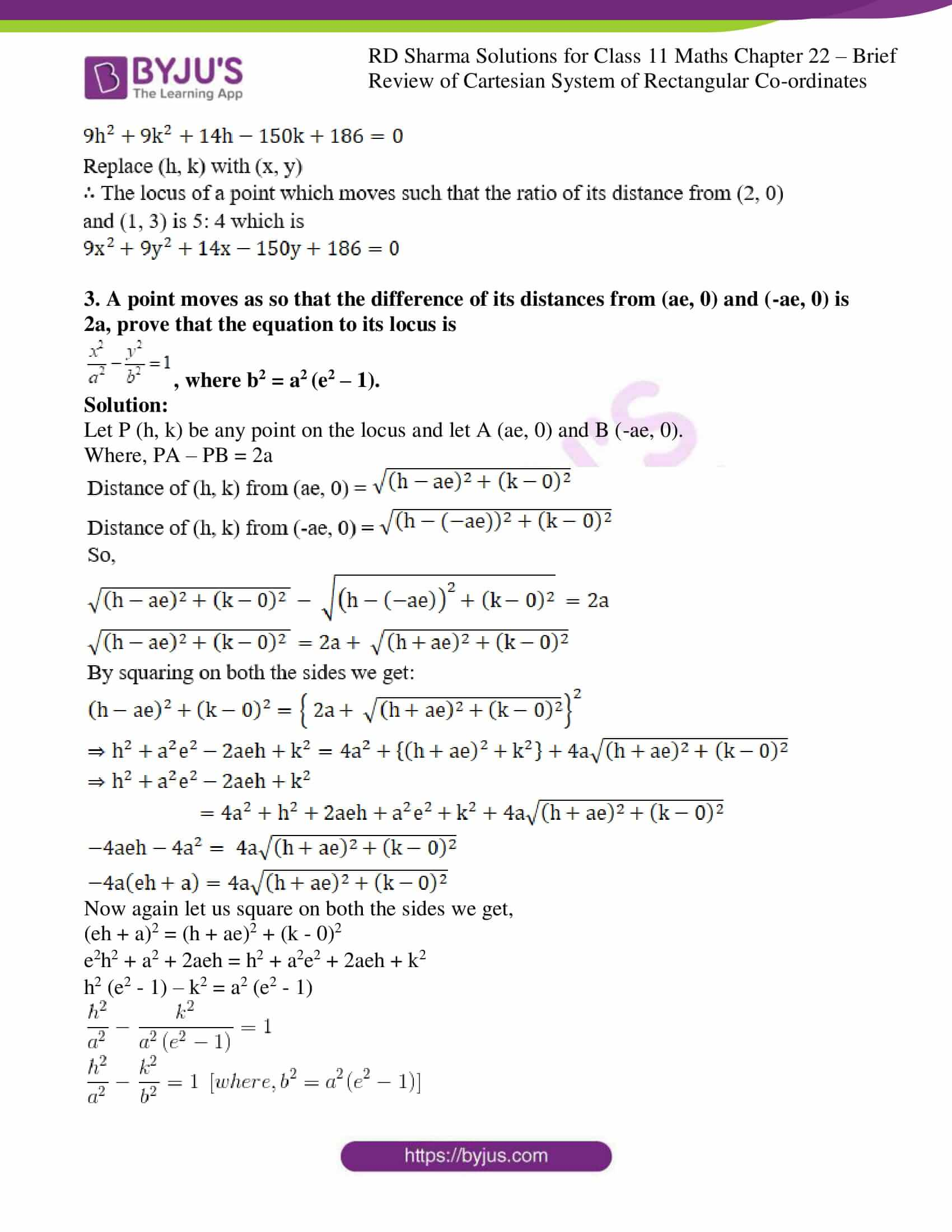 rd sharma class 11 maths ch 22 some brief review of cartesian system ex 2 2