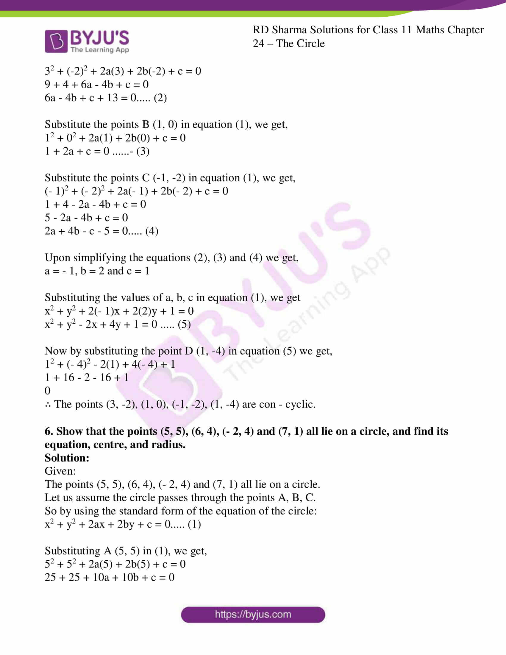 rd sharma class 11 maths ch 24 the circle ex 2 08