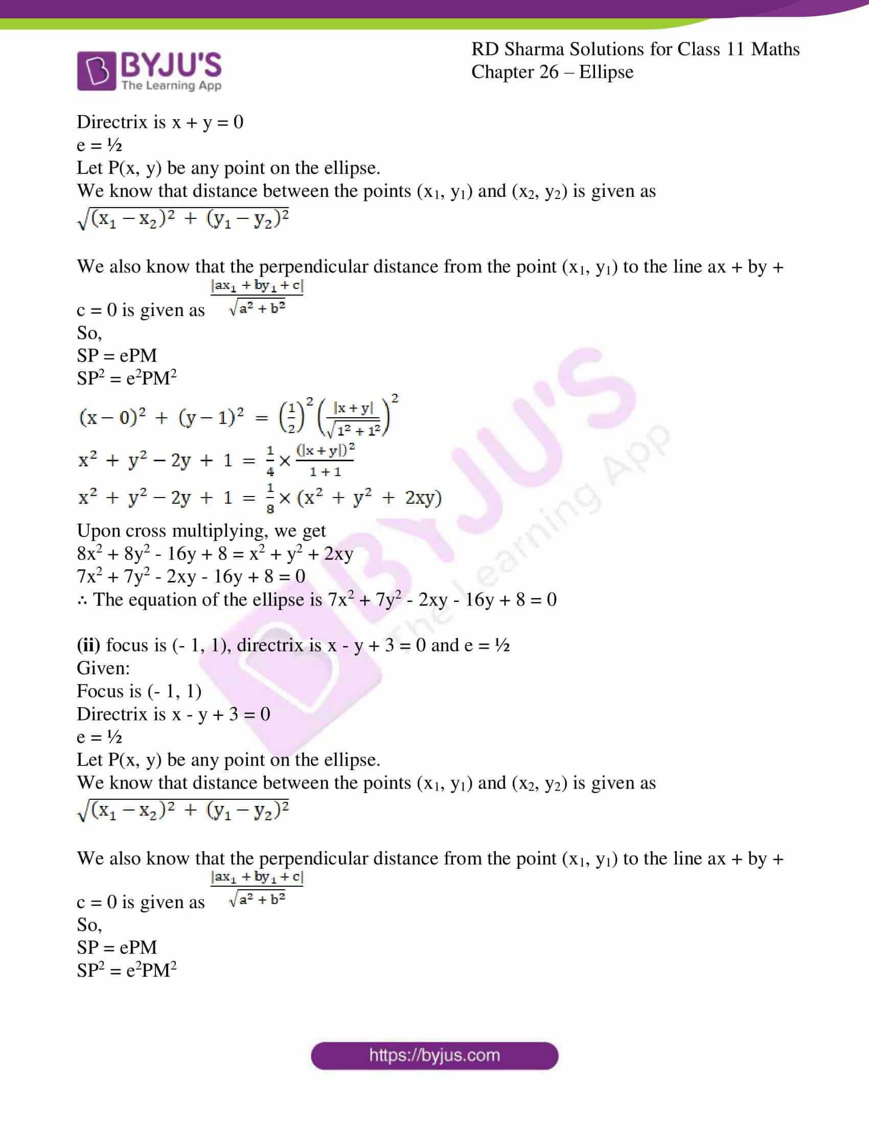 rd sharma class 11 maths ch 26 ellipse 02