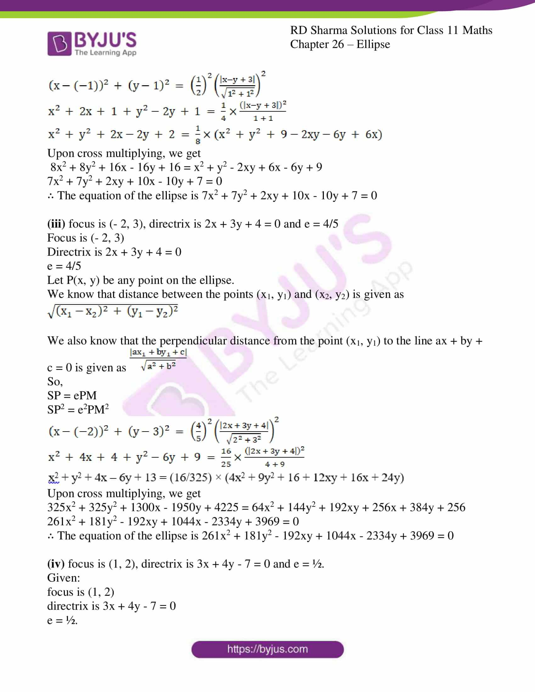 rd sharma class 11 maths ch 26 ellipse 03