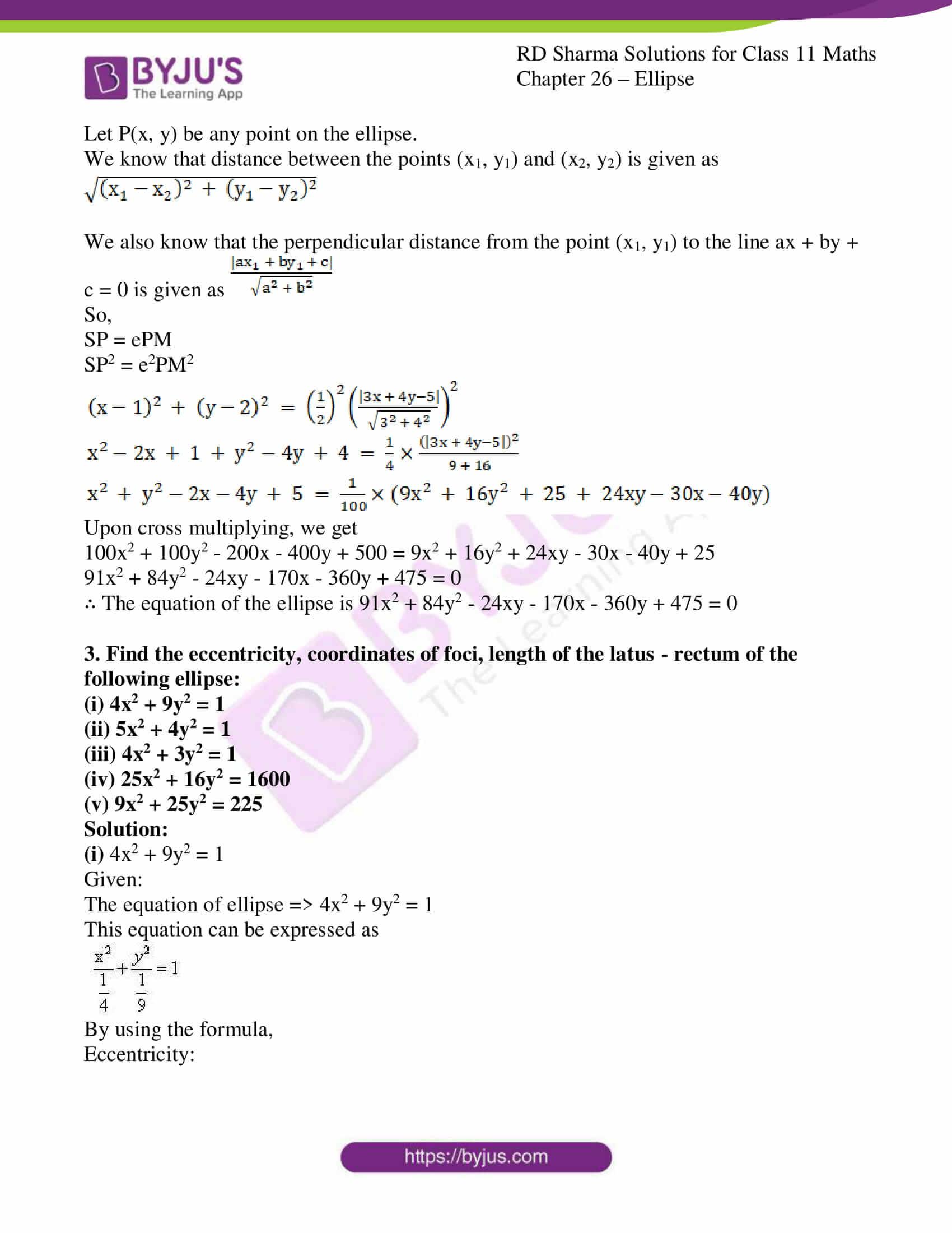 rd sharma class 11 maths ch 26 ellipse 04