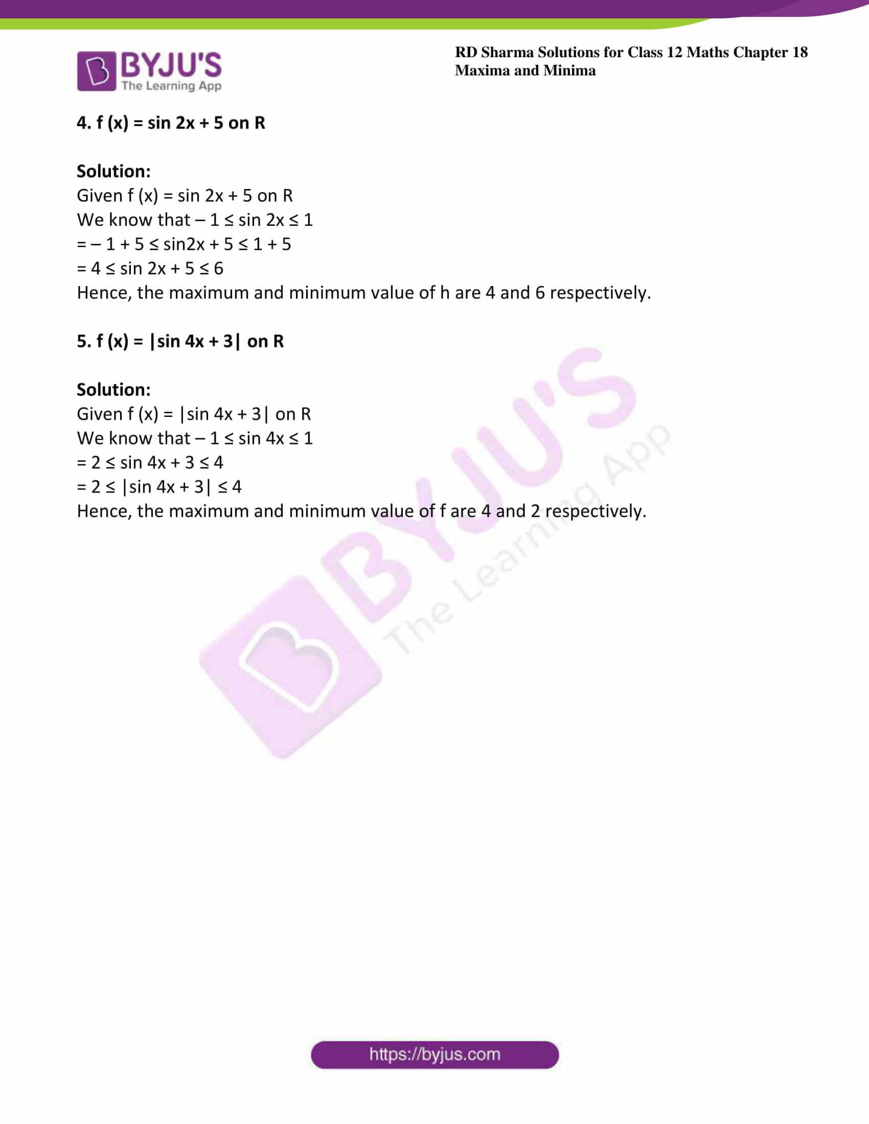 rd sharma class 12 maths sol chap 18 ex 1 2