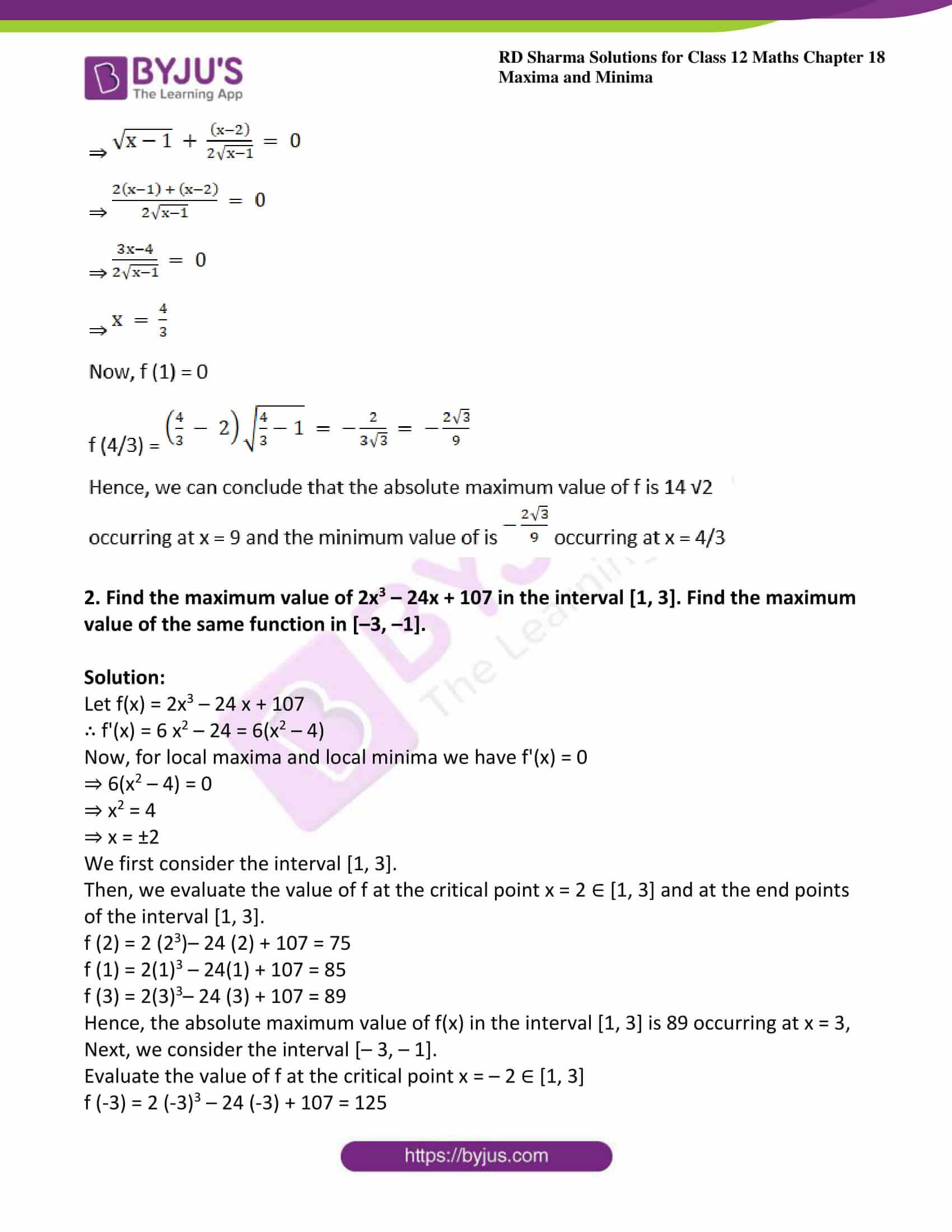 rd sharma class 12 maths sol chap 18 ex 4 3