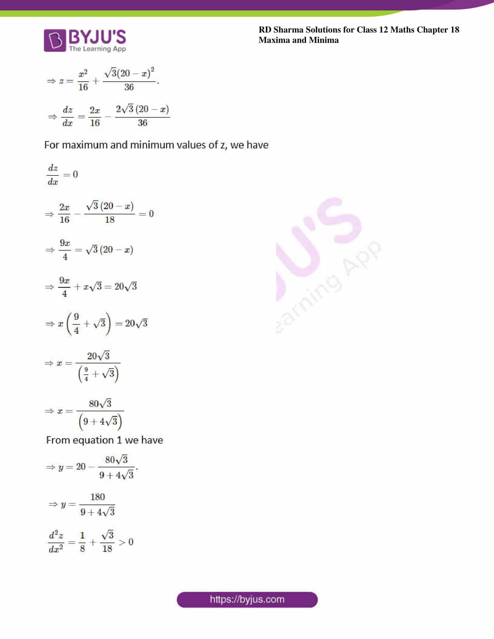 rd sharma class 12 maths sol chap 18 ex 5 10