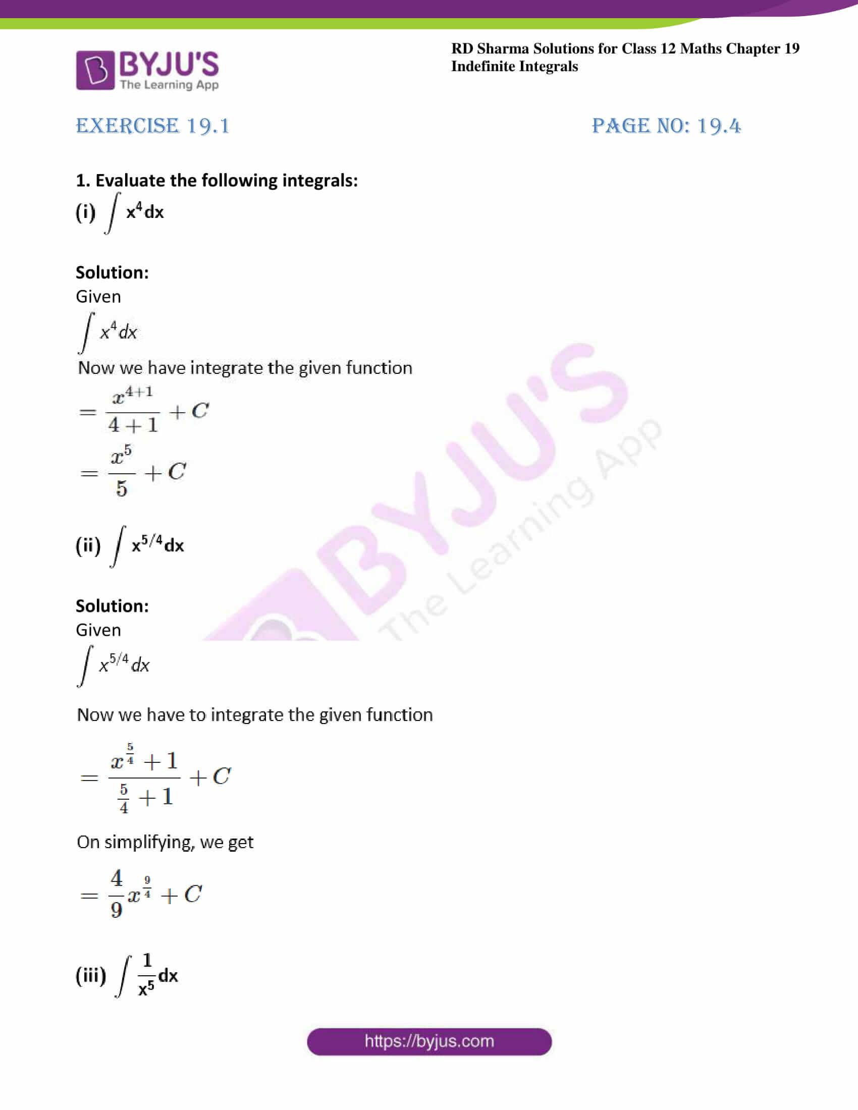 rd sharma class 12 maths sol chap 19 ex 1 1