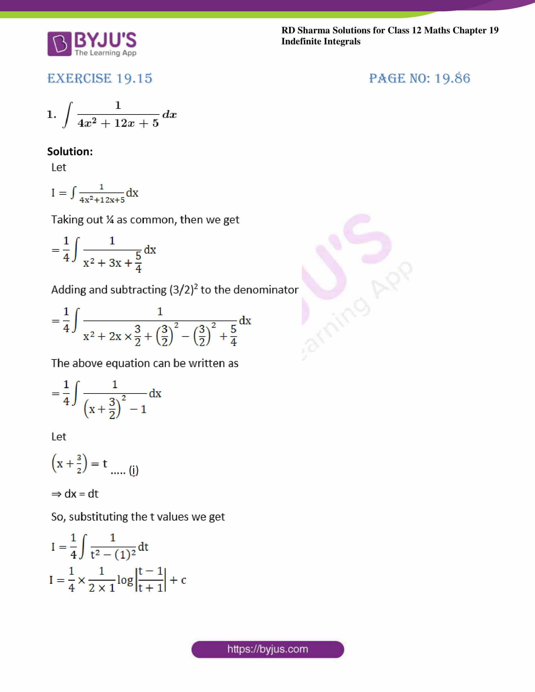 rd sharma class 12 maths sol chap 19 ex 15 1